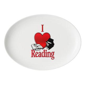 I Heart Reading Porcelain Serving Platter