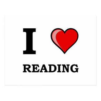 I Heart Reading Postcard