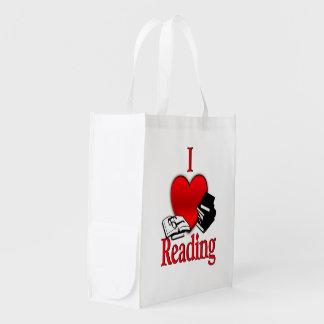 I Heart Reading Reusable Grocery Bag