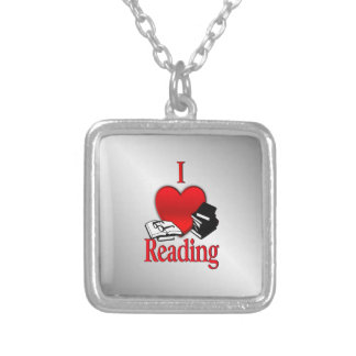 I Heart Reading Silver Plated Necklace