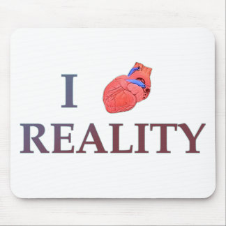 I Heart Reality Mouse Pad