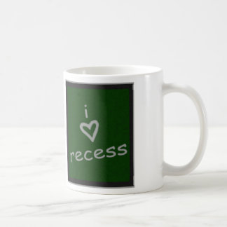 i heart recess chalkboard coffee mug
