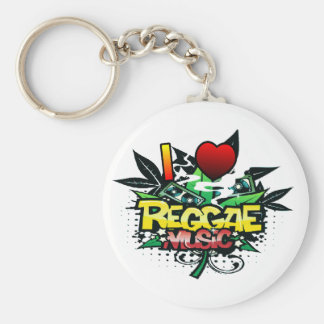 I Heart Reggae Music Keychains