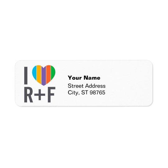 I heart RF return address labels