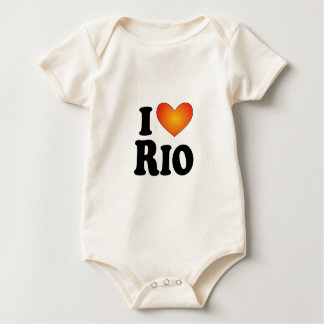 I (heart) Rio - Lite Products Baby Bodysuit