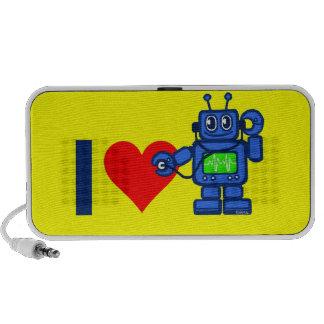 I heart robot, robot listen to heart mini speakers