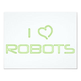 I Heart Robots 11 Cm X 14 Cm Invitation Card