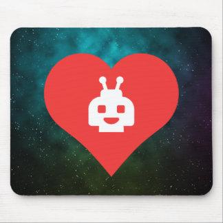 I Heart robots Icon Mouse Pad