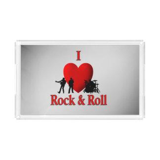 I Heart Rock & Roll Acrylic Tray