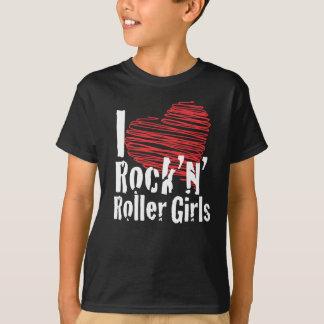 I heart rock'n'roller girls t shirts