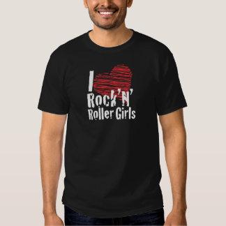 I heart rock'n'roller girls t-shirts