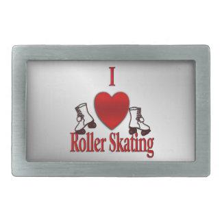 I Heart Roller Skating Rectangular Belt Buckles