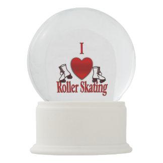 I Heart Roller Skating Snow Globe