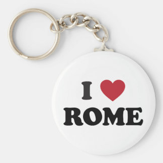 I Heart Rome Italy Basic Round Button Key Ring