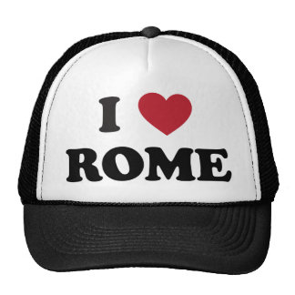 I Heart Rome Italy Hats