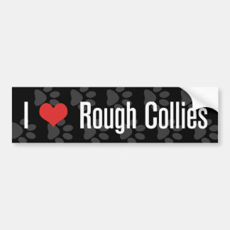 I (heart) Rough Collies Bumper Sticker