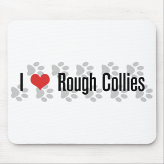 I (heart) Rough Collies Mouse Pad