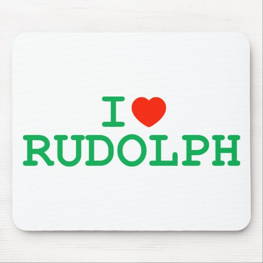 I Heart Rudolph Mouse Pad