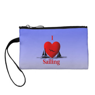 I Heart Sailing Blue Skies Coin Purse