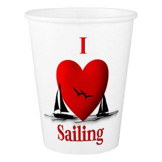 I Heart Sailing Paper Cup