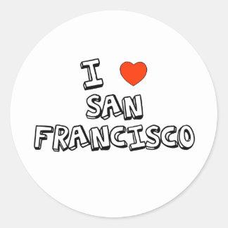 I Heart San Francisco Classic Round Sticker