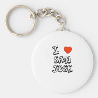 I Heart San Jose Key Ring