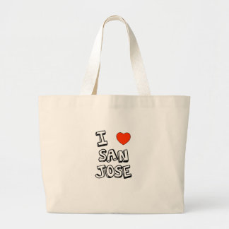 I Heart San Jose Large Tote Bag