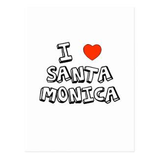 I Heart Santa Monica Post Card