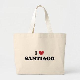 I Heart Santiago Chile Canvas Bags