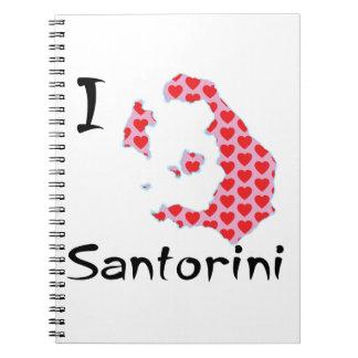 I heart Santorini Notebook