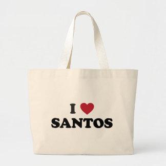 I Heart Santos Brazil Jumbo Tote Bag