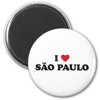 I Heart Sao Paulo Brazil 6 Cm Round Magnet