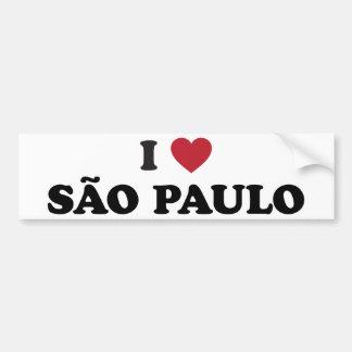 I Heart Sao Paulo Brazil Bumper Sticker