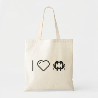 I Heart Scary Monsters Budget Tote Bag