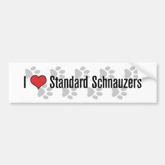 I (heart) Schnauzers Bumper Sticker