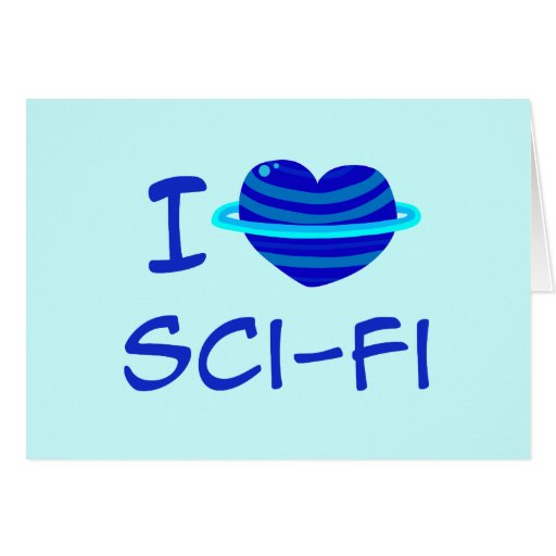 I Heart Sci-Fi Greeting Cards