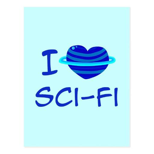 I Heart Sci-Fi Postcard