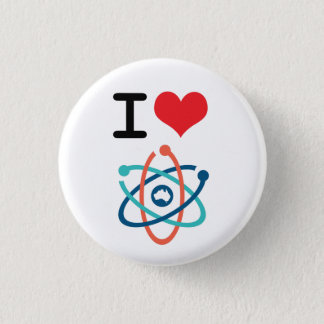 I Heart Science - 3 Cm Round Badge