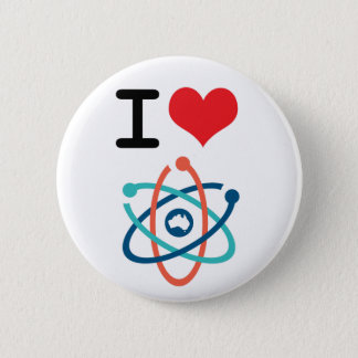 I Heart Science - 6 Cm Round Badge