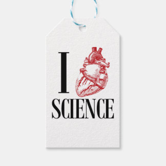 I heart science gift tags
