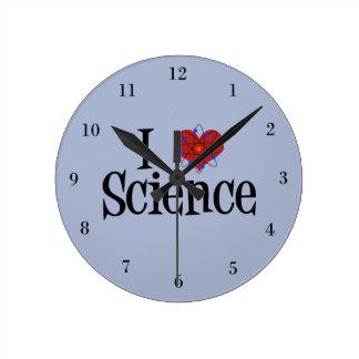 I Heart Science Round Clock