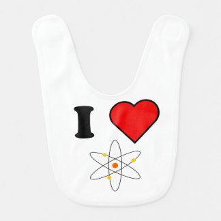 I Heart Science Baby Bib