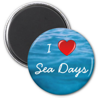 I Heart Sea Days 6 Cm Round Magnet