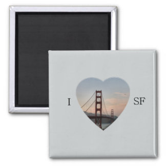 I Heart SF Square Magnet
