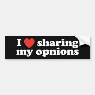 I Heart Sharing My Opinions Bumper Sticker