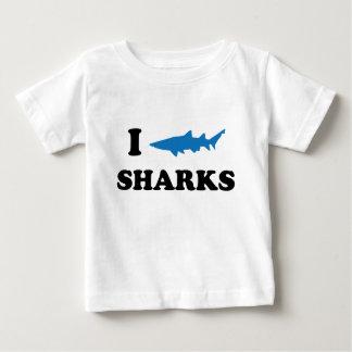 I Heart Sharks Baby T-Shirt