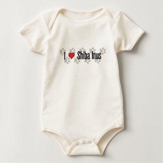 I (heart) Shiba Inus Baby Bodysuit