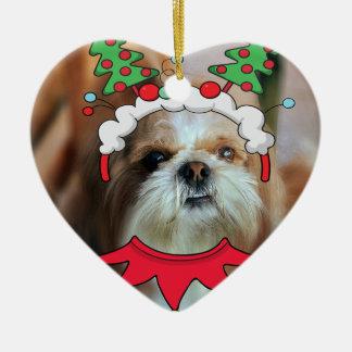I heart ❤ Shih Tzu's heart ornament