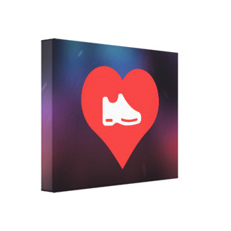I Heart shoes Icon Canvas Prints