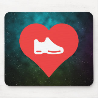 I Heart shoes Icon Mouse Pad